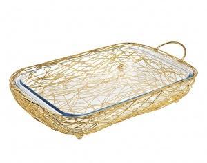 Godinger   Nest Gold Baker Rectangle $84.99
