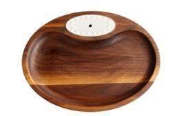 $40.00 Walnut Tidbit Dish 9.5 X 7