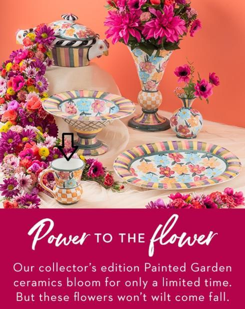 $98.00 Painted Garden Mug - Only 4 available!
