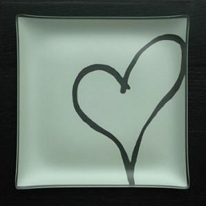 "$39.99 Plate with purpose  9"" Heart Habitat"