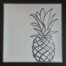 """$39.99 Plates with Purpose Pineapple Plate 9"""" Square"""