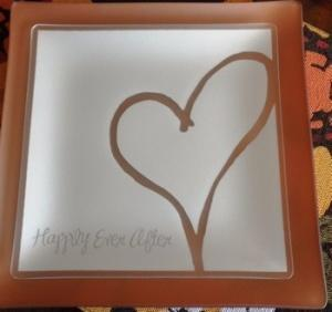 """$54.99 Plate with purpose  9"""" Happily Ever After"""