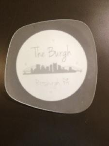"$40.00 Form Plate 7"" Pittsburgh Point"