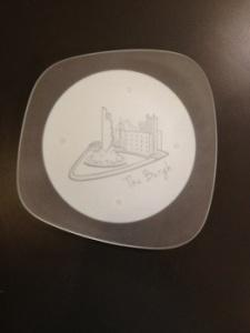 "$40.00 Form Plate 7"" Pittsburgh Skyli"