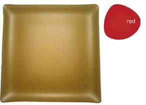 """$48.00 Square 11"""" Plate Red"""