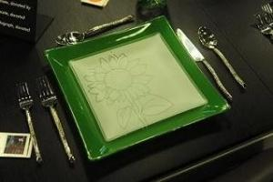 "$48.00 Patent Square 11"" Green"
