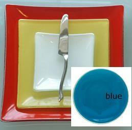 "$38.00 Patent Square 9"" Blue"