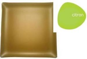 "$84.00 Square 14"" Plate Citron"