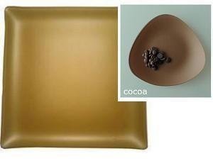 """$84.00 Square 14"""" Plate Cocoa"""