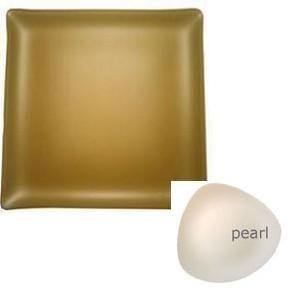 "$84.00 Square 14"" Plate Pearl"