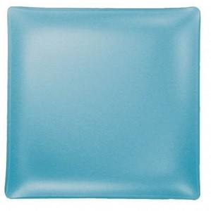 """$48.00 Square 11"""" Plate Turquoise"""