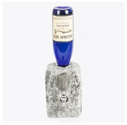 Funky Rock Designs   Whiskey Rock - Stone Beverage Dispenser Cobbled stone $145.00