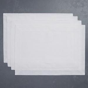 SFERRA  Table Linens Festival Placemats White Set/4 $57.00