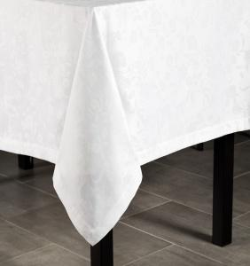 $184.00 Tansy Tablecloth White 70X144