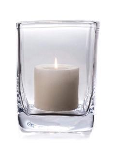 Simon Pearce   Woodbury Medium Hurricane With Candle $175.00
