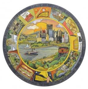"Sticks   Lazy Susan 18"" Pittsburgh $175.00"