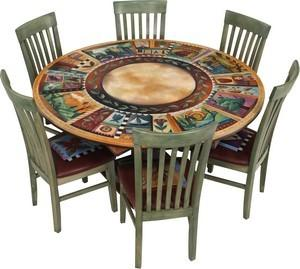 """$4,613.00 Dining Table Round 60X30"""" H -37"""