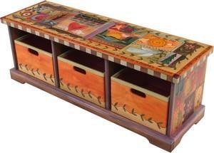$3,025.00 Bench W/Boxes 50X16.5 - 3