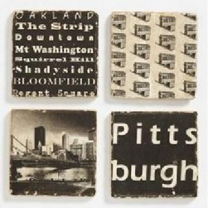 $46.00 Coasters: Pittsburgh (Set/4)