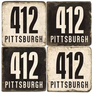 $46.00 Coasters: Pittsburgh 412 Set/4