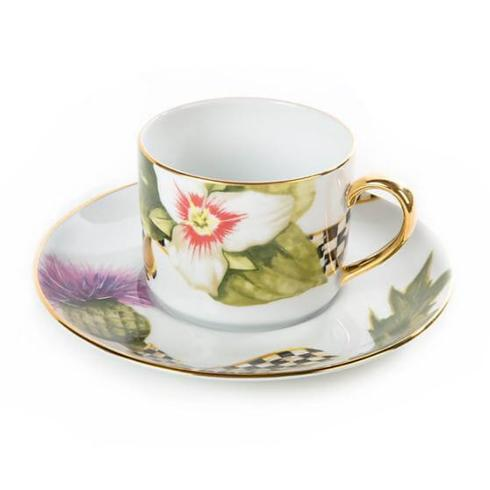 $90.00 Thistle and Bee Tea Cup & Saucer Set