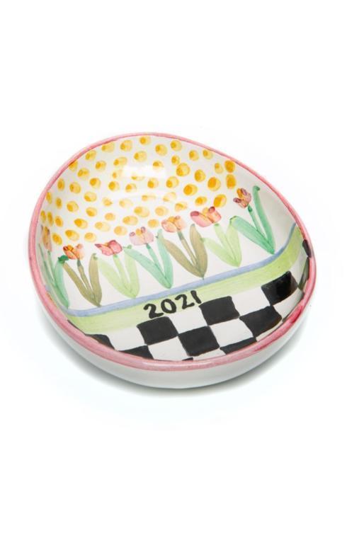 $88.00 Tulip Garden Egg Plate