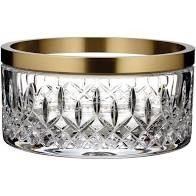 $425.00 Waterford Reflections Gold Rim Bowl