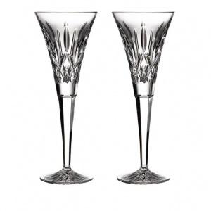 $160.00 Waterford Lismore Toasting Flutes (Pair)