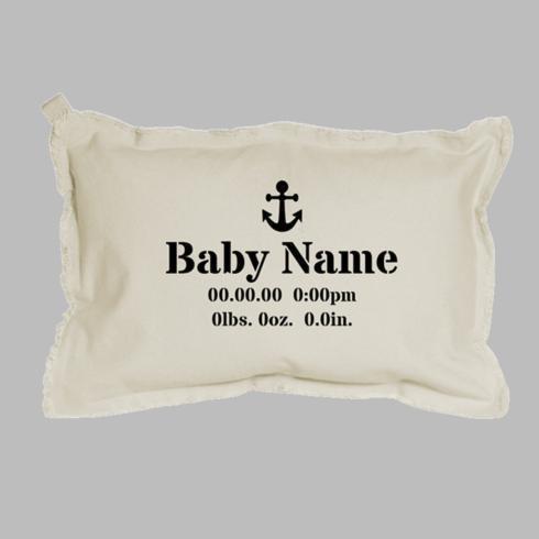 Birth Announcement + Icon Lumbar Pillow