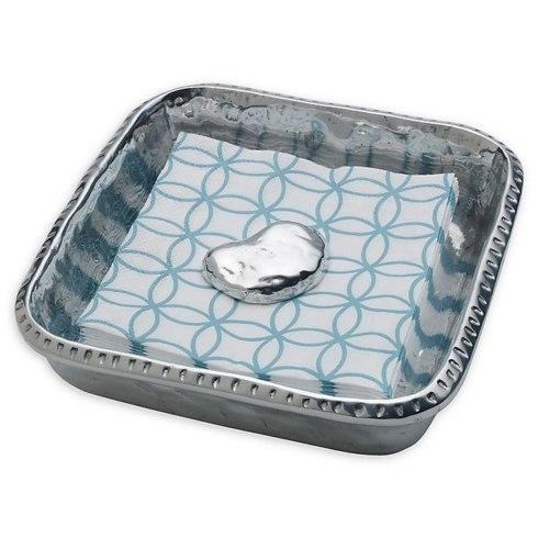 $49.99 Wilton Armetale River Rock Napkin Box