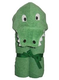 $48.00 Alligator Hooded Towel - Embroidery inlcuded