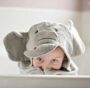 $48.00 Elephant  Hooded Towel - Embroidery inlcuded