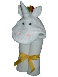 $48.00 Unicorn Hooded Towel - Embroidery inlcuded