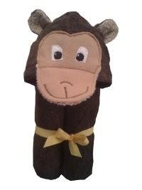 $48.00 Monkey Hooded Towel - Embroidery inlcuded
