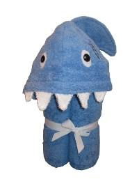 $48.00 Shark hooded Towel - Embroidery inlcuded