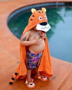 $48.00 Towel Hooded Tiger - Embroidery inlcuded
