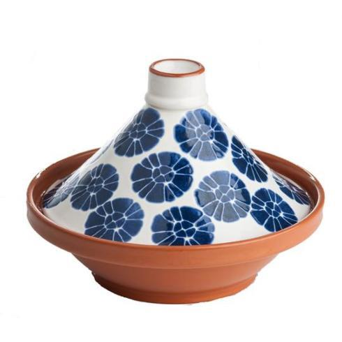 $85.00 BLUE/WHITE FLOWERED TAGINE