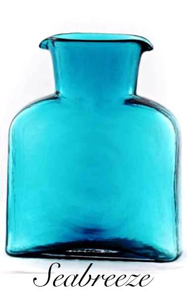 Blenko Glass Co   WATER BOTTLE SEABREEZE $52.00