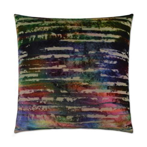 $186.00 BONBONS SQUARE RAINBOW FEATHER PILLOW