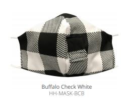 $12.50 BUFFALO CHECK  WHITE FACE MASK