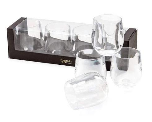 $30.00 CLEAR ACRYLIC TUMBLER GIFT SET S/4