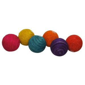 $7.50 COLORED JUTE BALL ASSORTED
