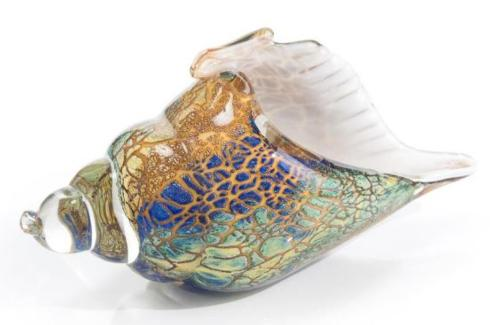 $175.00 ETHEREAL GLASS CONCH 5 X 11 X 4