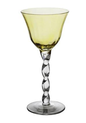 $20.00 YELLOW TOP WINE GLASS