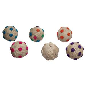 $9.50 DOTTED JUTE BALL ASSORTED