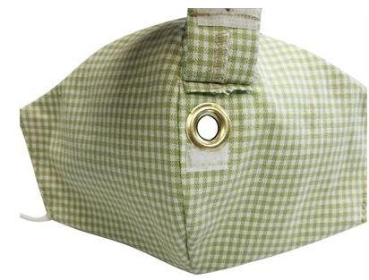 FACE MASK IN GREEN GINGHAM CREEK
