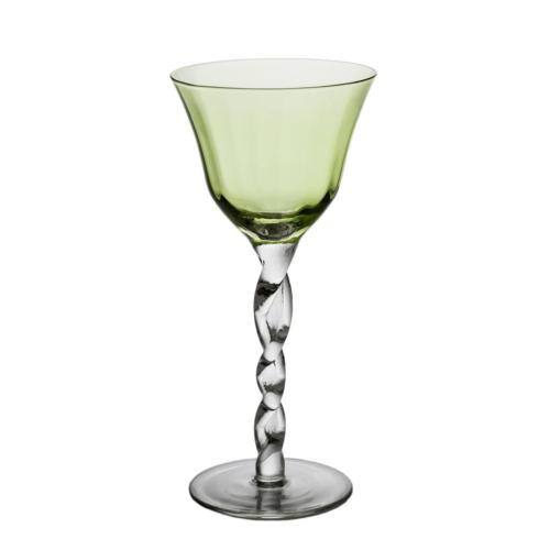 $20.00 GREEN TOP WINE GLASS
