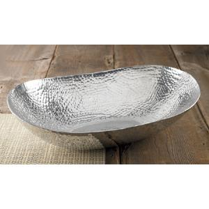 $100.00 HAMMERED OVAL EXTRA LARGE BOWL
