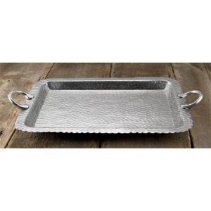 $75.00 HAMMERED SCALLOP RECTANGUAR TRAY