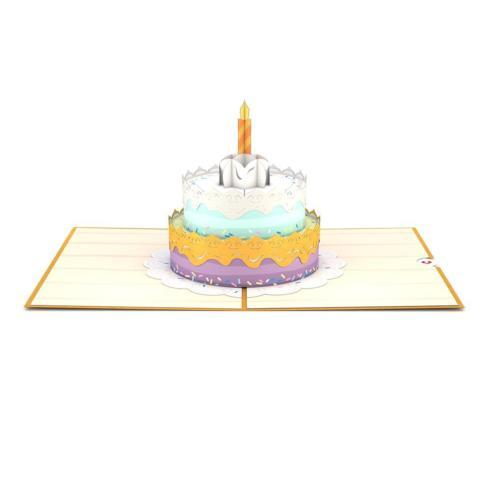 $13.00 Happy Birthday Cake 3D card